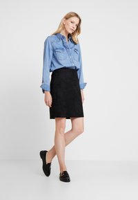 Esprit - MINI SKIRT - A-line skirt - black - 1