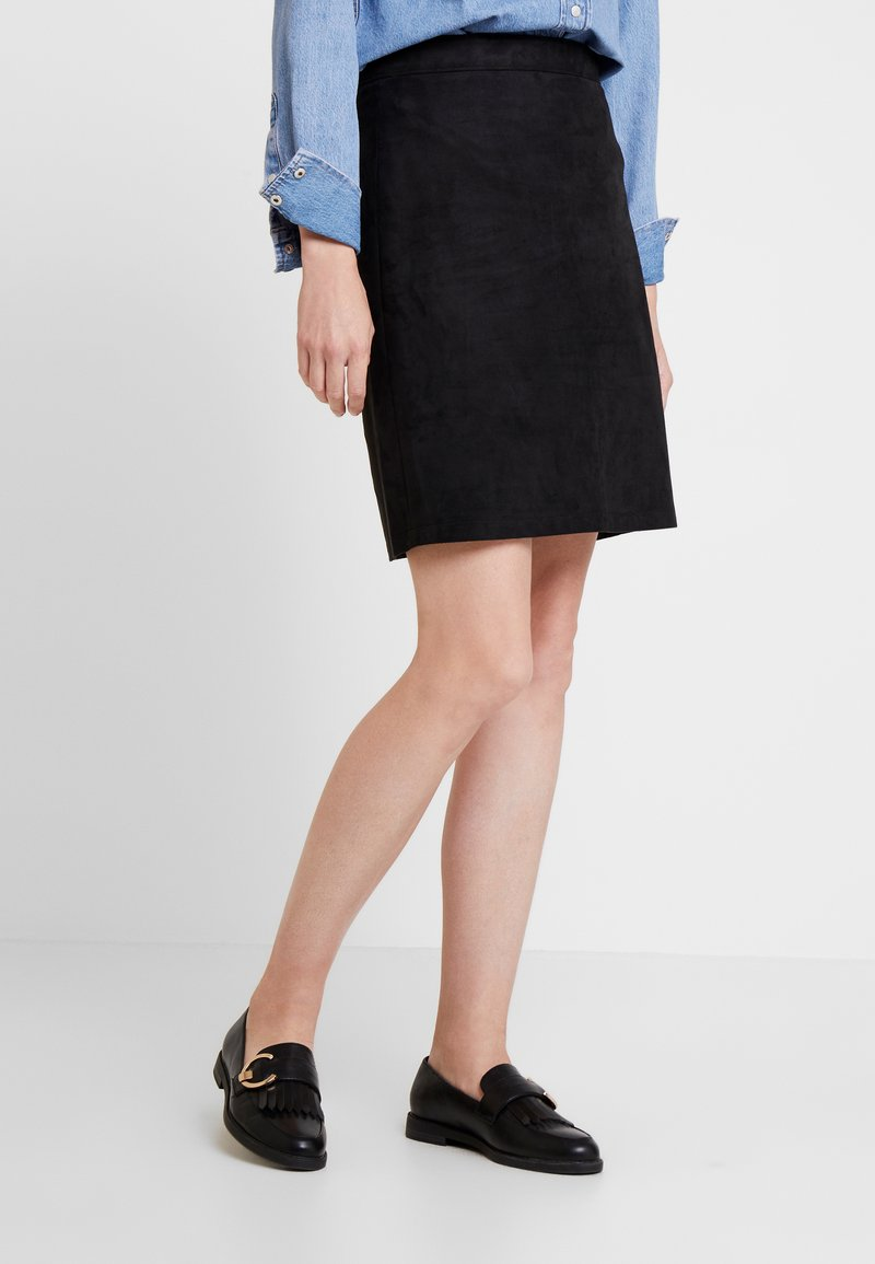 Esprit - MINI SKIRT - A-line skirt - black