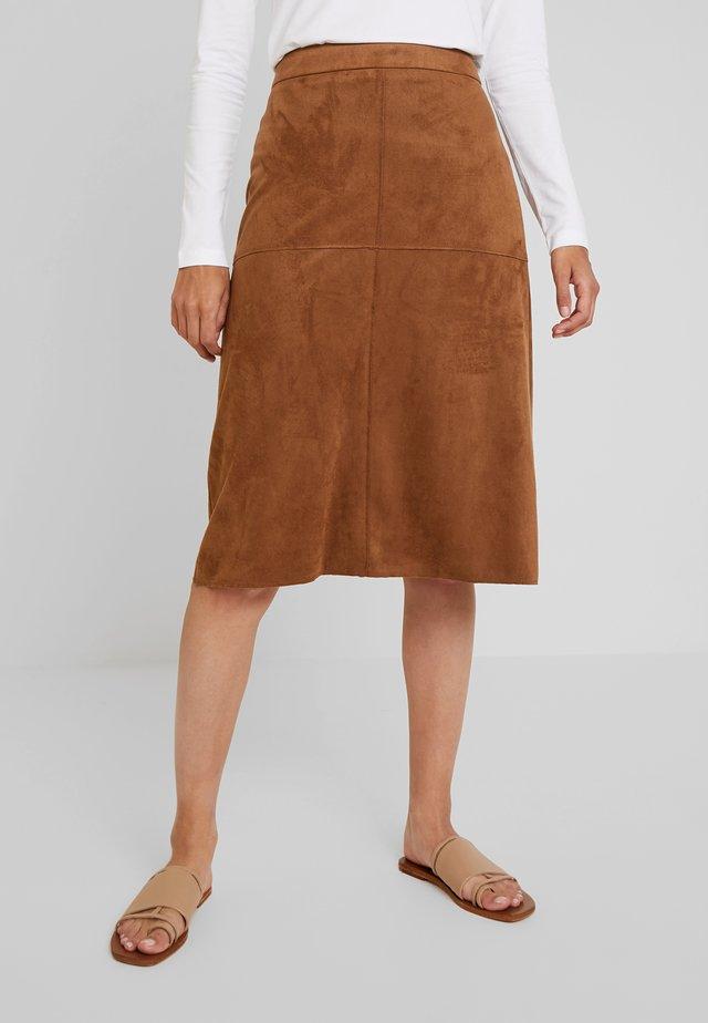 Spódnica trapezowa - toffee