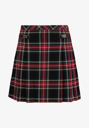 CHECKED SKIRT - Veckad kjol - black