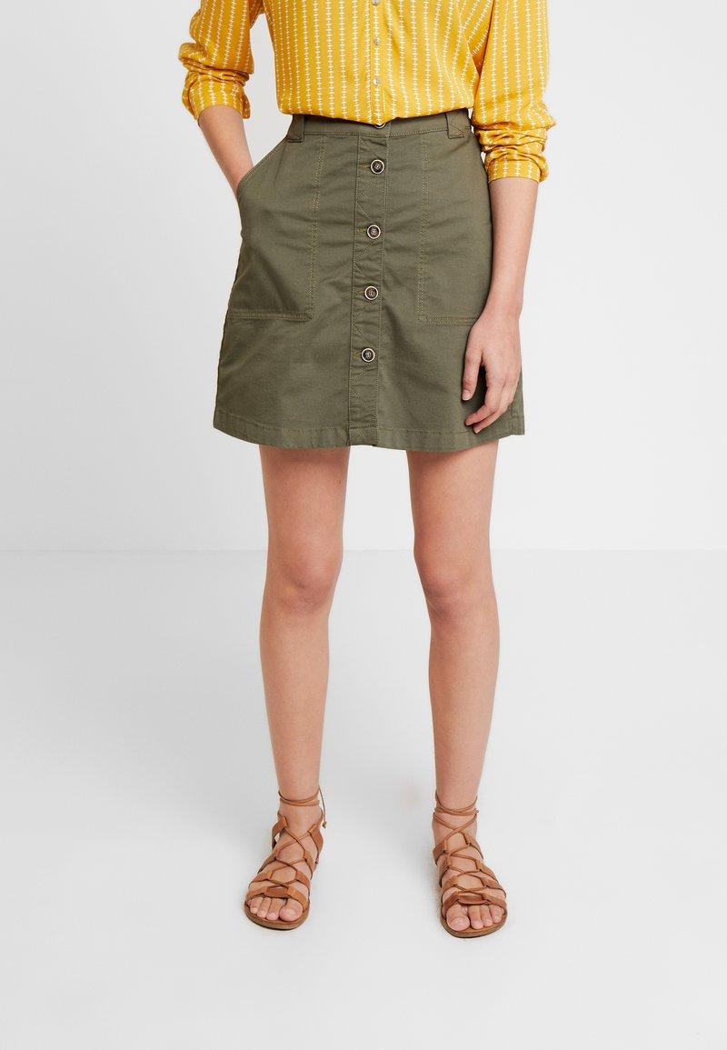 Esprit - UTILITY SKIRT - A-line skirt - khaki green