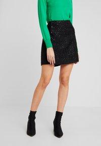 Esprit - SKIRT - Pencil skirt - black - 0