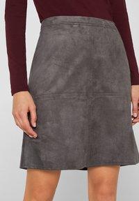 Esprit - A-line skirt - medium grey - 3