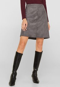 Esprit - A-line skirt - medium grey - 1