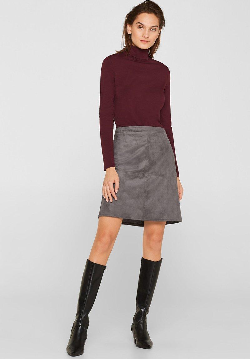 Esprit - A-line skirt - medium grey