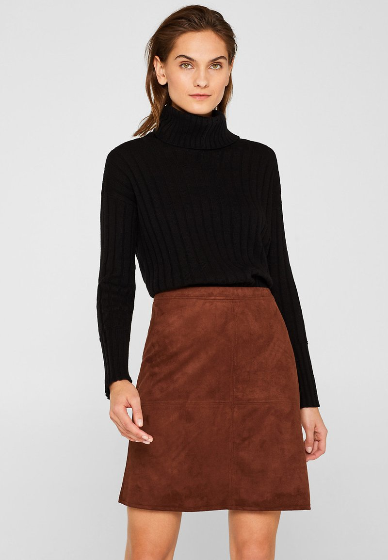 Esprit - A-line skirt - dark brown
