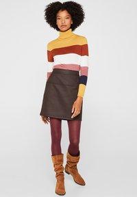 Esprit - A-lijn rok - dark brown - 0