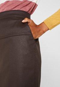Esprit - A-lijn rok - dark brown - 3