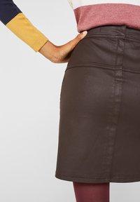 Esprit - A-lijn rok - dark brown - 4