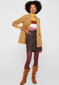 Esprit - A-lijn rok - dark brown - 1