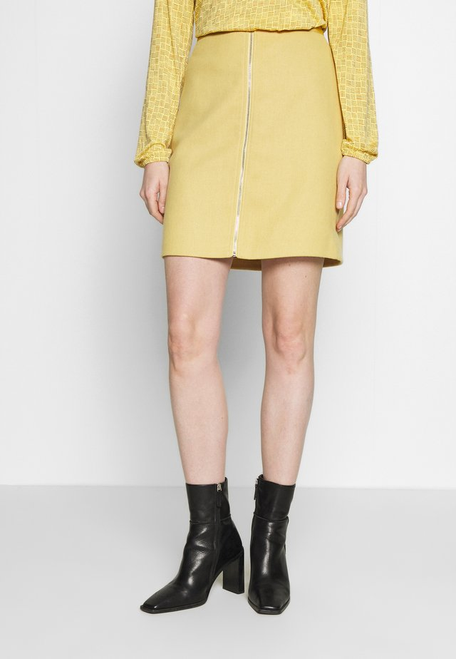 A-line skirt - yellow