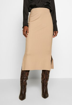 TUBE SKIRT - Pencil skirt - camel