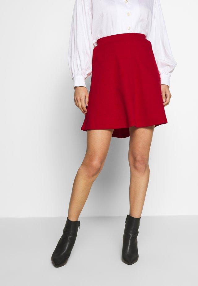 SKIRT - Jupe trapèze - dark red