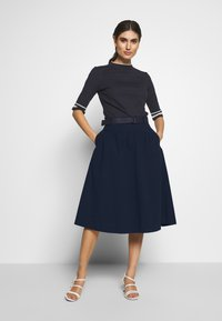 Esprit - POPELINE - A-line skirt - navy - 1