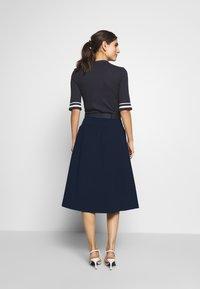 Esprit - POPELINE - A-line skirt - navy - 2