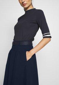 Esprit - POPELINE - A-line skirt - navy - 4
