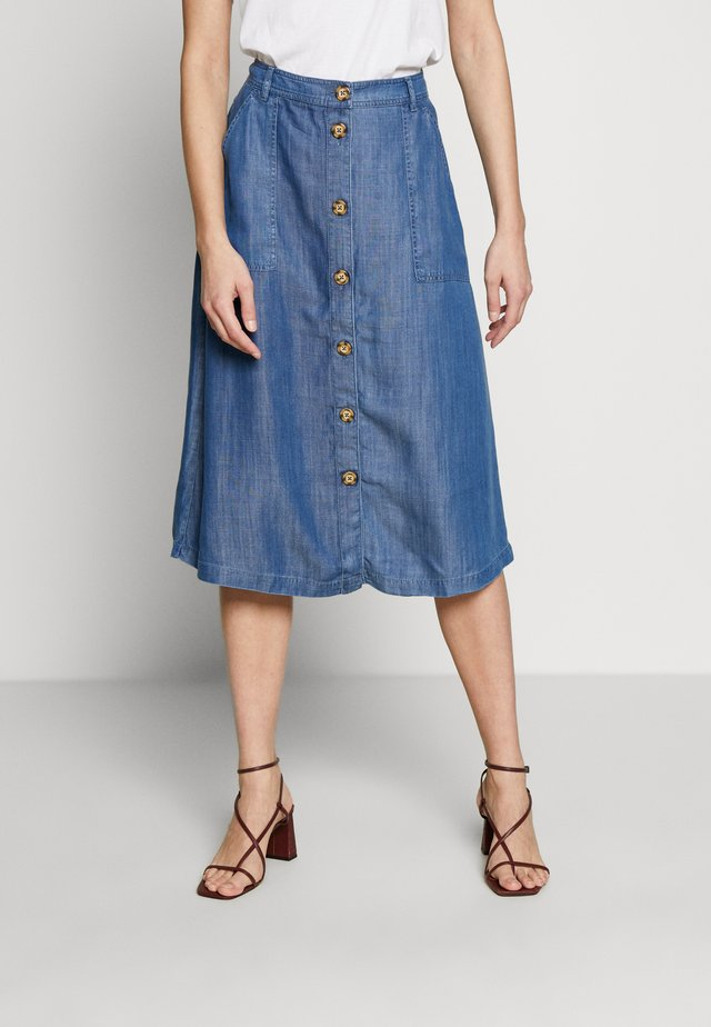 SKIRT - A-line skirt - blue medium wash