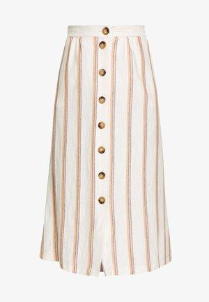 STRIPE - A-line skirt - rust orange