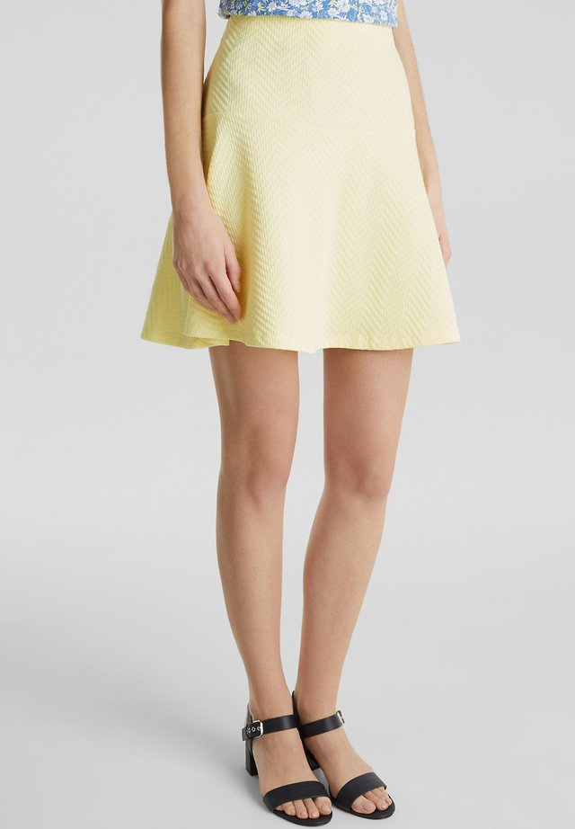 SKIRT - A-lijn rok - lime yellow