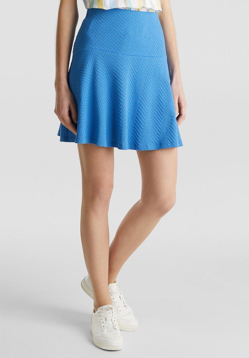 Esprit - SKIRT - A-lijn rok - bright blue