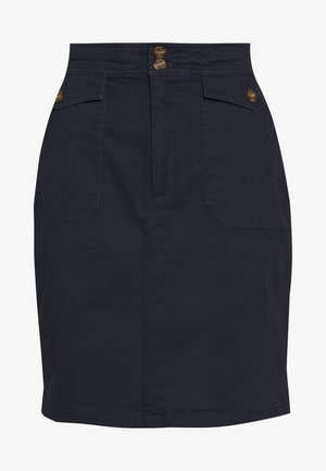 BAY COT - A-line skirt - navy