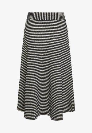 STRIPED SKIRT - A-line skirt - navy