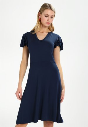 VOLANT DRESS - Jerseyklänning - navy