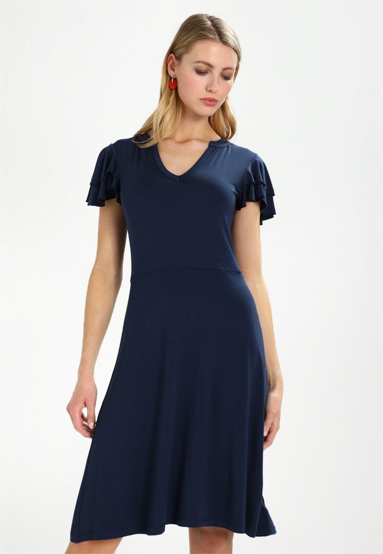 Esprit - VOLANT DRESS - Jerseykleid - navy