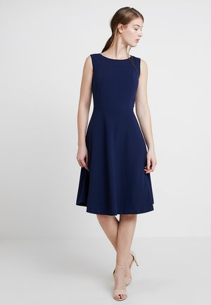 CREPE DRESS - Jersey dress - navy