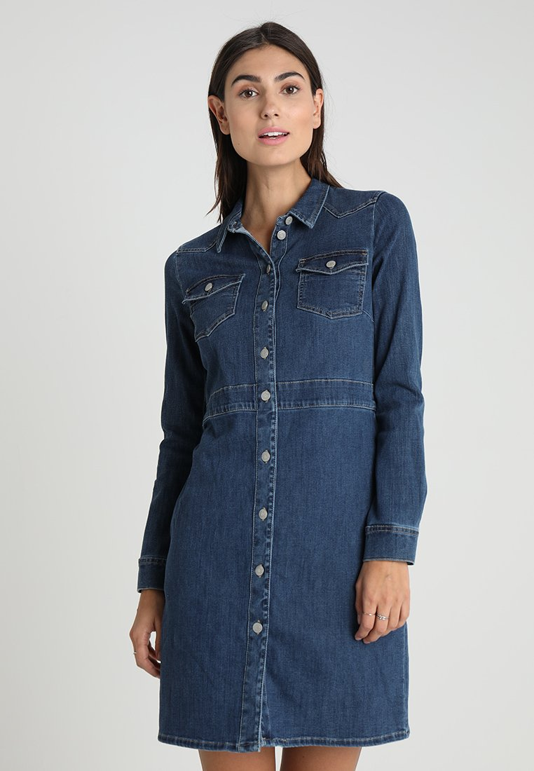 Esprit - DRESSES - Dongerikjole - blue medium wash