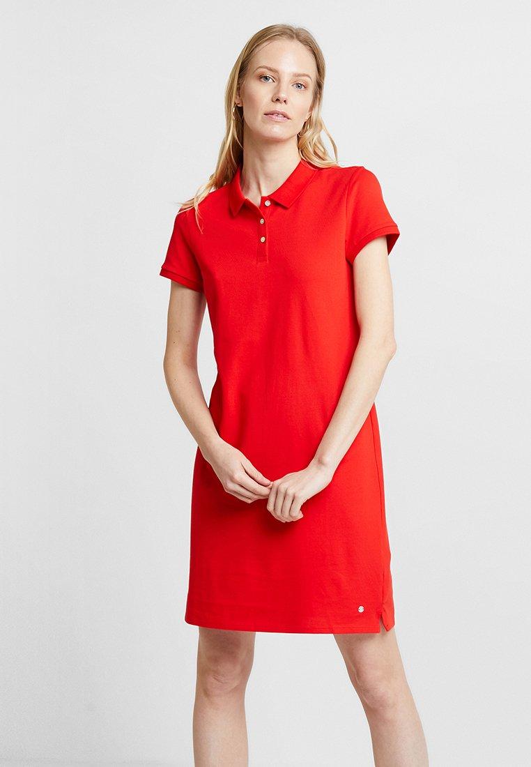 Esprit - POLO DRESS - Freizeitkleid - red