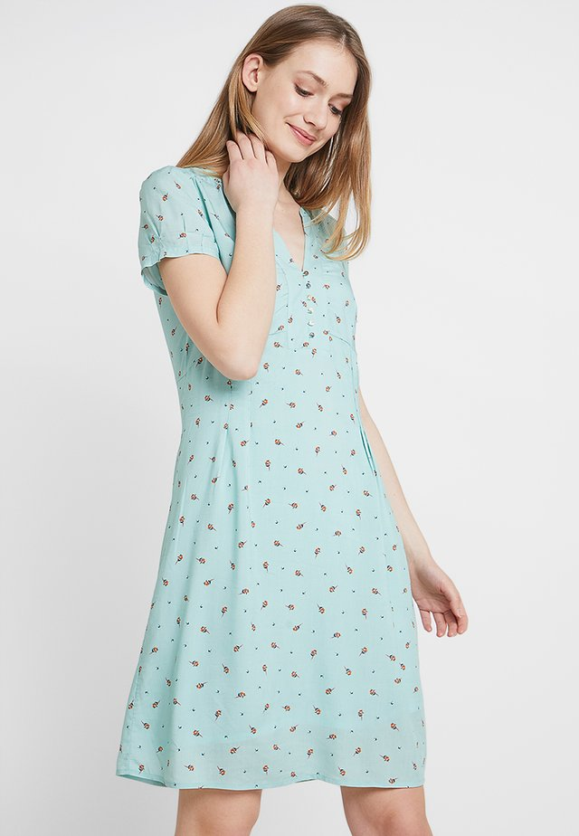 FLUENT - Vestido camisero - light aqua green