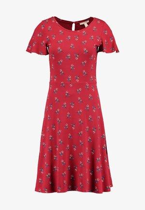 MIDI DRESS - Jerseyklänning - dark red