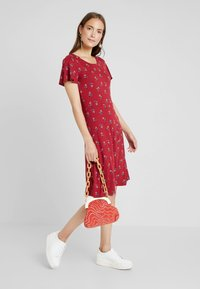 Esprit - MIDI DRESS - Jerseyklänning - dark red