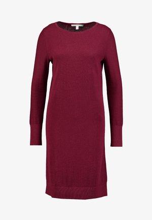 DRESS - Abito in maglia - bordeaux red