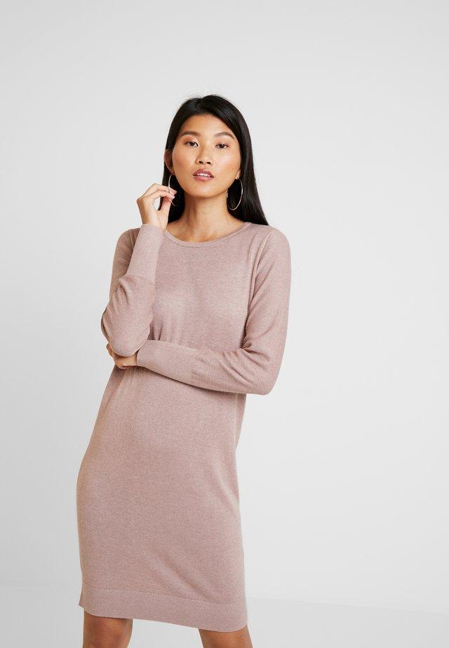 DRESS - Stickad klänning - mauve