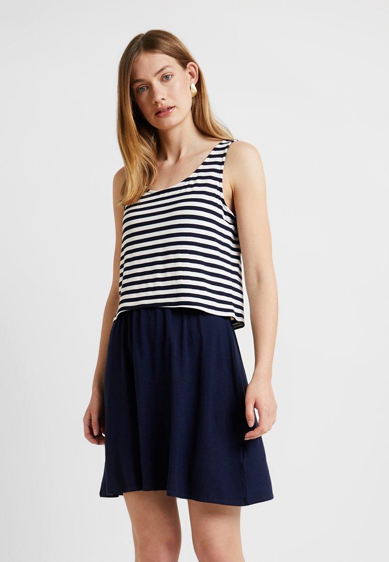 Esprit - LAYERING DRESS - Jerseykleid - navy