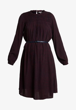 CRINCLE PRINTED - Day dress - garnet red