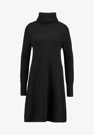 DRESS ROLLNECK - Jumper dress - black