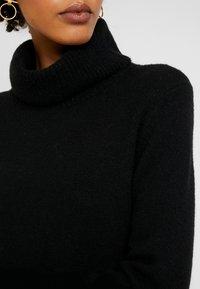 Esprit - DRESS ROLLNECK - Jumper dress - black - 6