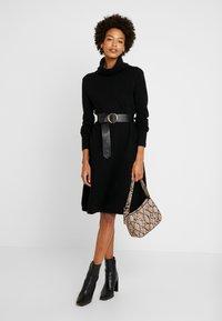 Esprit - DRESS ROLLNECK - Jumper dress - black - 2