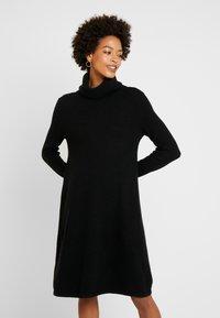 Esprit - DRESS ROLLNECK - Jumper dress - black - 0
