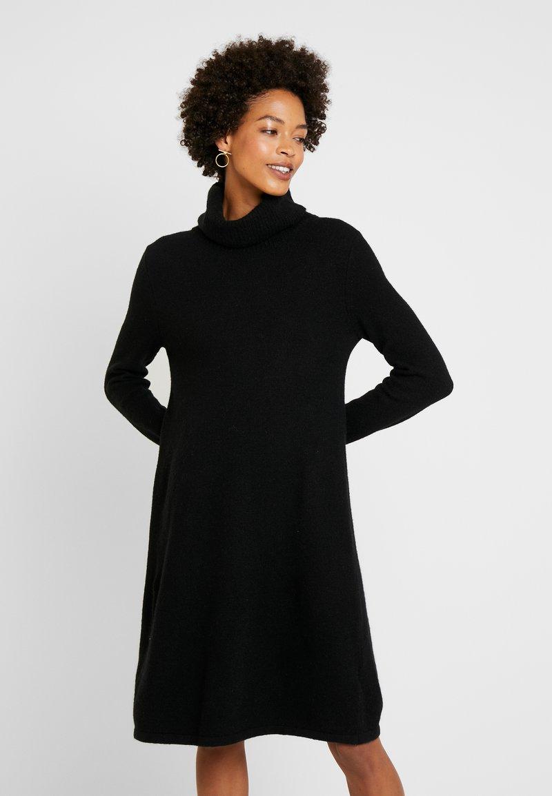 Esprit - DRESS ROLLNECK - Strickkleid - black
