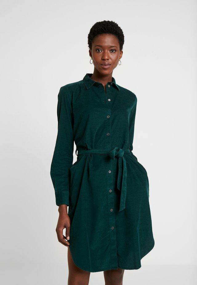 Vestido camisero - dark teal green