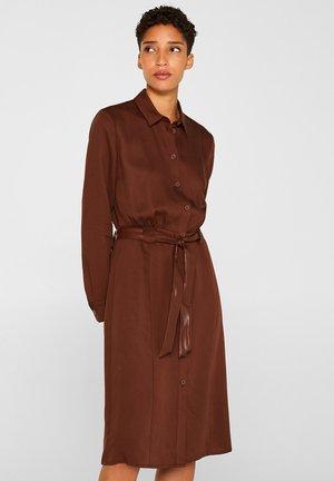 SPRING - Robe chemise - dark brown