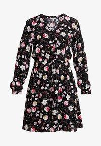 Esprit - PRINT DRESS - Skjortekjole - black - 5