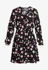 Esprit - PRINT DRESS - Vestido camisero - black