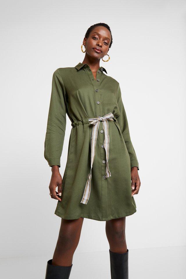 Košilové šaty - khaki green