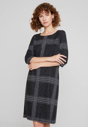 SWEAT DRESS - Gebreide jurk - black