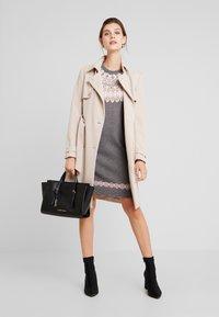 Esprit - DRESS - Strikket kjole - gunmetal - 1